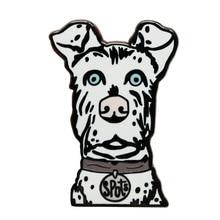Жёсткая эмалированная булавка в виде пятен Остров собак Wes Anderson