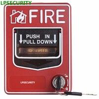 Güvenlik ve Koruma'ten Yangın Alarmı Kontrol Paneli'de LPSECURITY 9 28VDC yangın alarmı sistemi Konvansiyonel Manuel çağrı noktası düğme istasyonu Ateş Basma Çekme Aşağı Acil Durum Alarmı