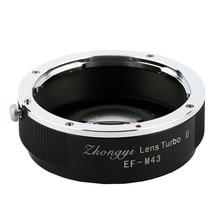 Booster Focal Reductor Adaptador de Lente Zhongyi Turbo II Para Canon EOS Para Olympus Cámaras Pana sonic