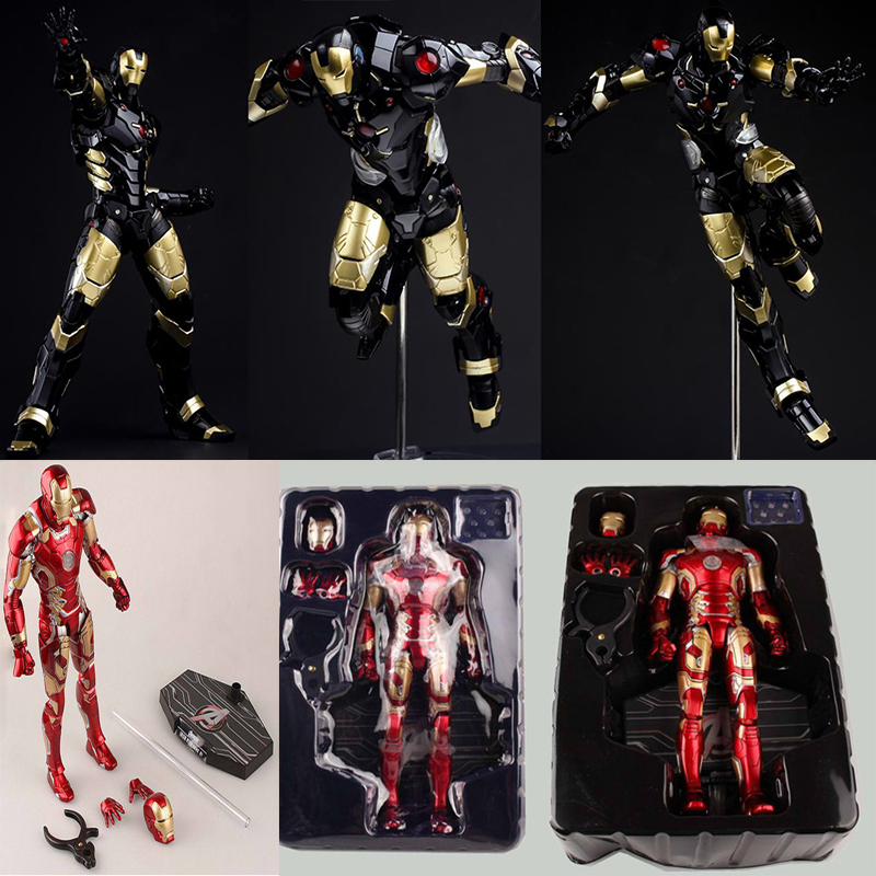 HC lights Iron Man Mark MK43 Play arts KAI figma Superman Deadpool marvel Avengers joker PVC action Figure collectible Model marvel iron man mark 43 pvc action figure collectible model toy 7 18cm kt027