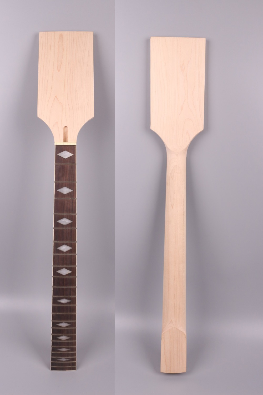 Yinfente guitare électrique cou remplacement 22 fret tête de palette érable fretboard diamo incrustation Strat Jackson guitare électrique cou # p8