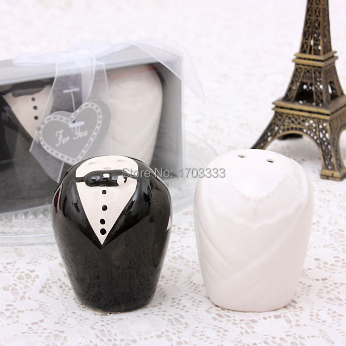 Dhl Fedex Free Shipping 100sets200pcs Bride And Groom Salt And