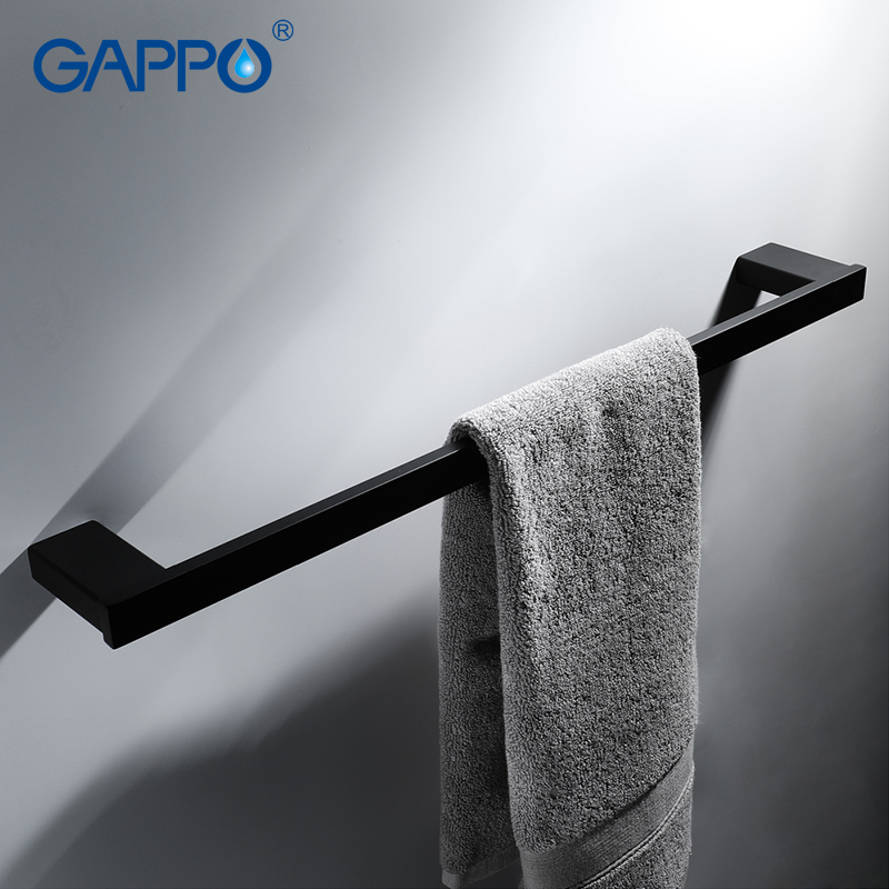 GAPPO Towel Bars bath hardware accessories bathroom towel holder hanger rod wall mounted rack porte serviette gappo towel bars bathroom towel holder hanger bath accessories stainless steel towel rack towel ring robe hooks bathroom