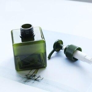 Image 2 - 1 adet kare şişe 150ml losyon şişesi büyük kapasiteli presleme duş jeli şampuan şişesi kozmetik dağıtım şişe BQ024