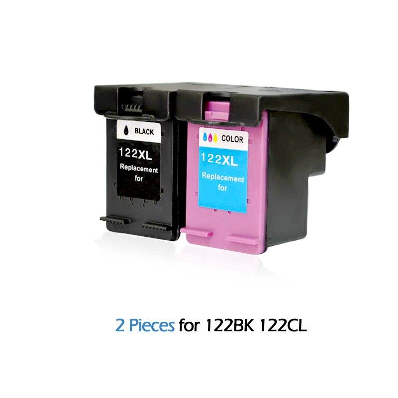 2pcs Compatible Ink Cartridges for HP122 Deskjet D1000 1050 2000 2050 2510 3000 3052A 3054A 3540 2540 printers For HP 122 XL