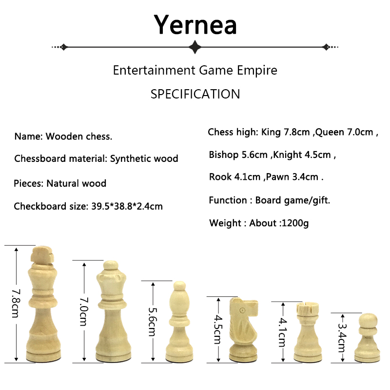 Yernea Magnetic Chess High-quality Wooden Chess Set Solid Wood Chessboard Magnetic Pieces New Entertainment Chess Games 1