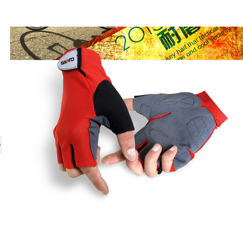 FuLang Cycling font b Gloves b font Microfiber half Finger warm keeping antiskid SZ39