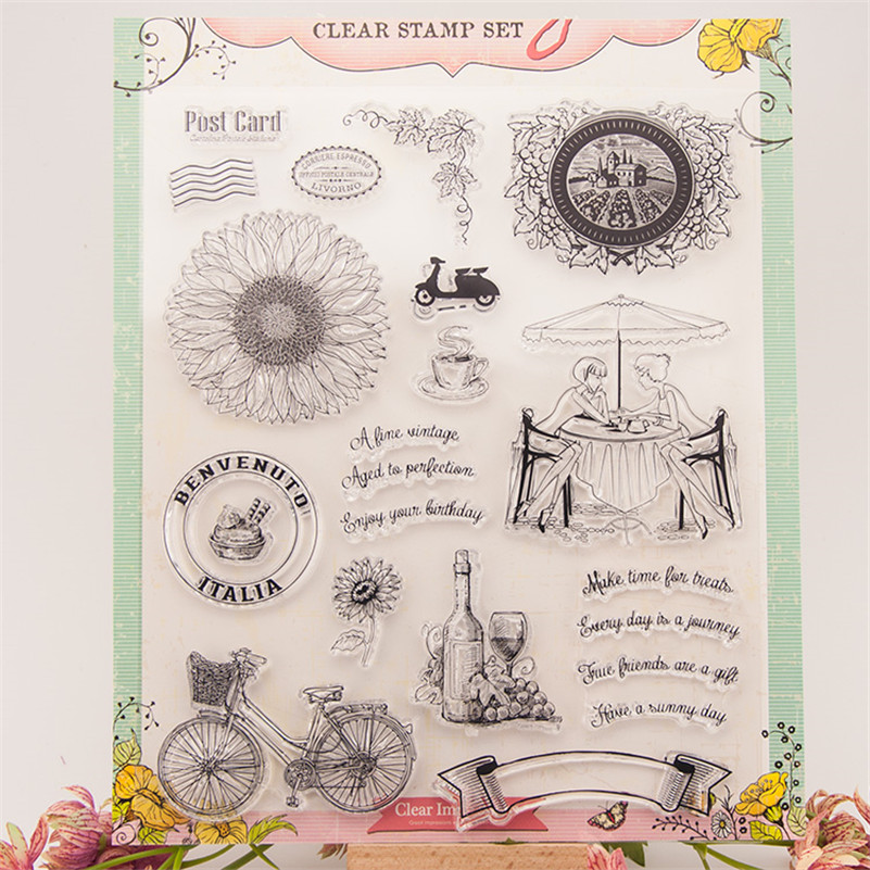 quality time Transparent Clear Silicone Stamps for DIY Scrapbooking Card Making Kids Christmas Fun RZ-077 холодильник side by side samsung rs552nrua9m