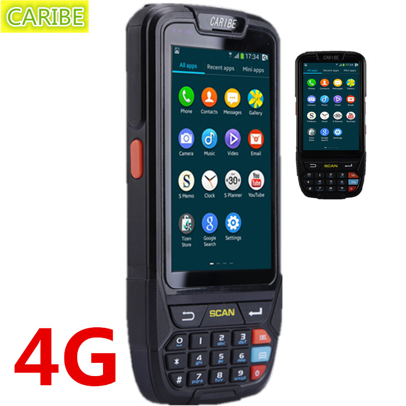Handheld PDA Android 5.1 with 860-960Mhz RFID reader(read distance is 1-3M) and 2d barcode reader caribe pl 40l industrial pda mini portable nfc memory attendance rfid android integrated with gps 1d barcode scanner