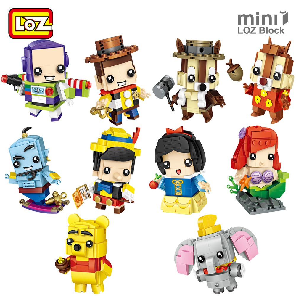 LOZ Mini Blocks Brick Toy for Children Heads Building Bricks Super Hero Cartoon Animal Action Figure Assembly Model Educational loz diamond blocks dans blocks iblock fun building bricks movie alien figure action toys for children assembly model 9461 9462