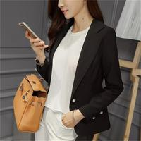 Blazer Ms. Feminin 2018 yellow black suit jacket sleeve jacket with Ol Style Slim suit jacket female office elegant 2xl