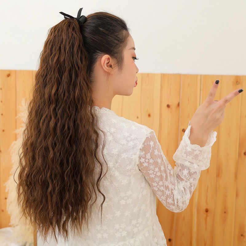 22 дюймов длинный кудрявый конский хвост завязывается на волосы 8 цветов на выбор от 110 г