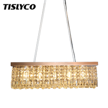 Clear K9 Crystal Chandelier Dining Room Light Fixtures Polished Chrome Finish Modern Rectangle Chandeliers L31.5''xW9.8''xH8.9'' 81ccp series chrome polished crystal