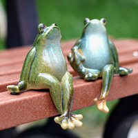Creative Home New House Living Room Porch Animal Small Ornaments Wine Cabinet Garden Courtyard Ceramic Decoration Couple Frog