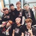 Bts детей Bangtan официальный kpop мужчины и женщины любовное настроение коротким рукавом BTS k-pop футболки Топы кофты слой
