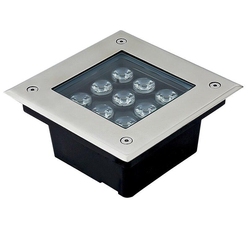 Carré LED Métro Léger 3 w/4 w/5 w/6 w/9 w/12 w/16 w/24 w/36 w LED Extérieure Lumière Au Sol Jardin Chemin Enfouis Cour Lampe AC85-265V IP67