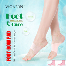 WGAFON 1 Pair Silicone Foot-bow correction pad Bandage Insole Flat Foot Men and Women care Sports fashion