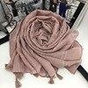 Scarves & Stoles Plaid Embroidered Cotton Pashmina Wraps