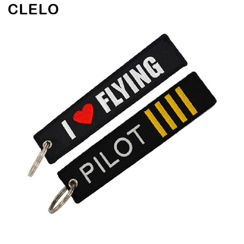 Luggage Tag Flight Crew Tag Pilot Keychain Aviamart® 100% Embroidered