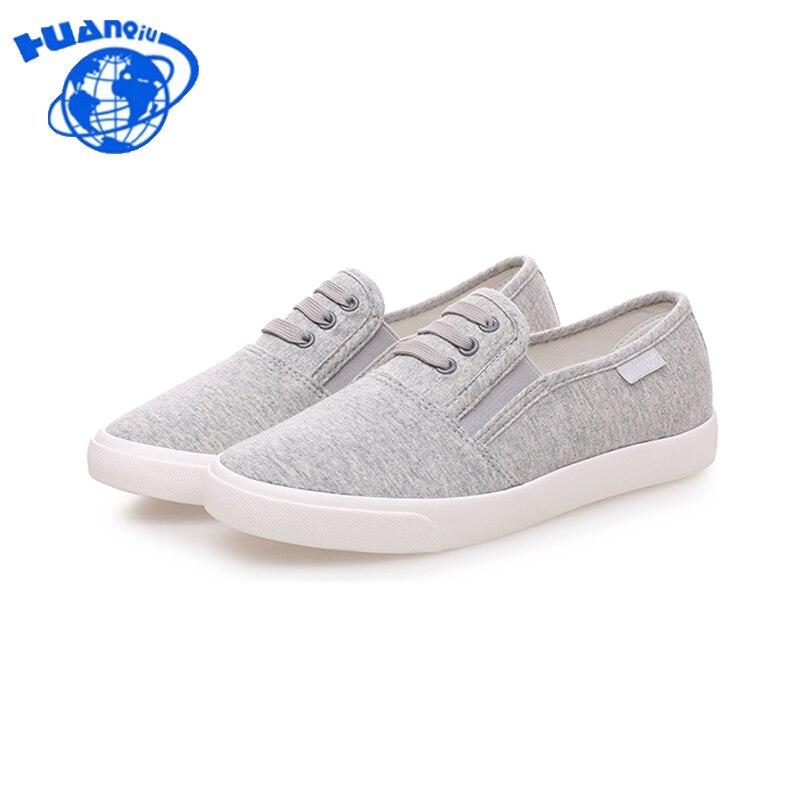 HuanQiu 2017 women canvas shoes low breathable women solid color flat shoes casual shoe 6e48 free shipping candy color women garden shoes breathable women beach shoes hsa21