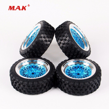 1/10 Scale Rally Rubber Tires and Wheel Rim with 6mm Offset and 12mm Hex for HSP HPI RC Car Model Toys Accessories 12mm hex rc car model kids toys accessory 1 10 flat rubber tires and wheel rim for hsp hpi rc on road racing car 10365 21006