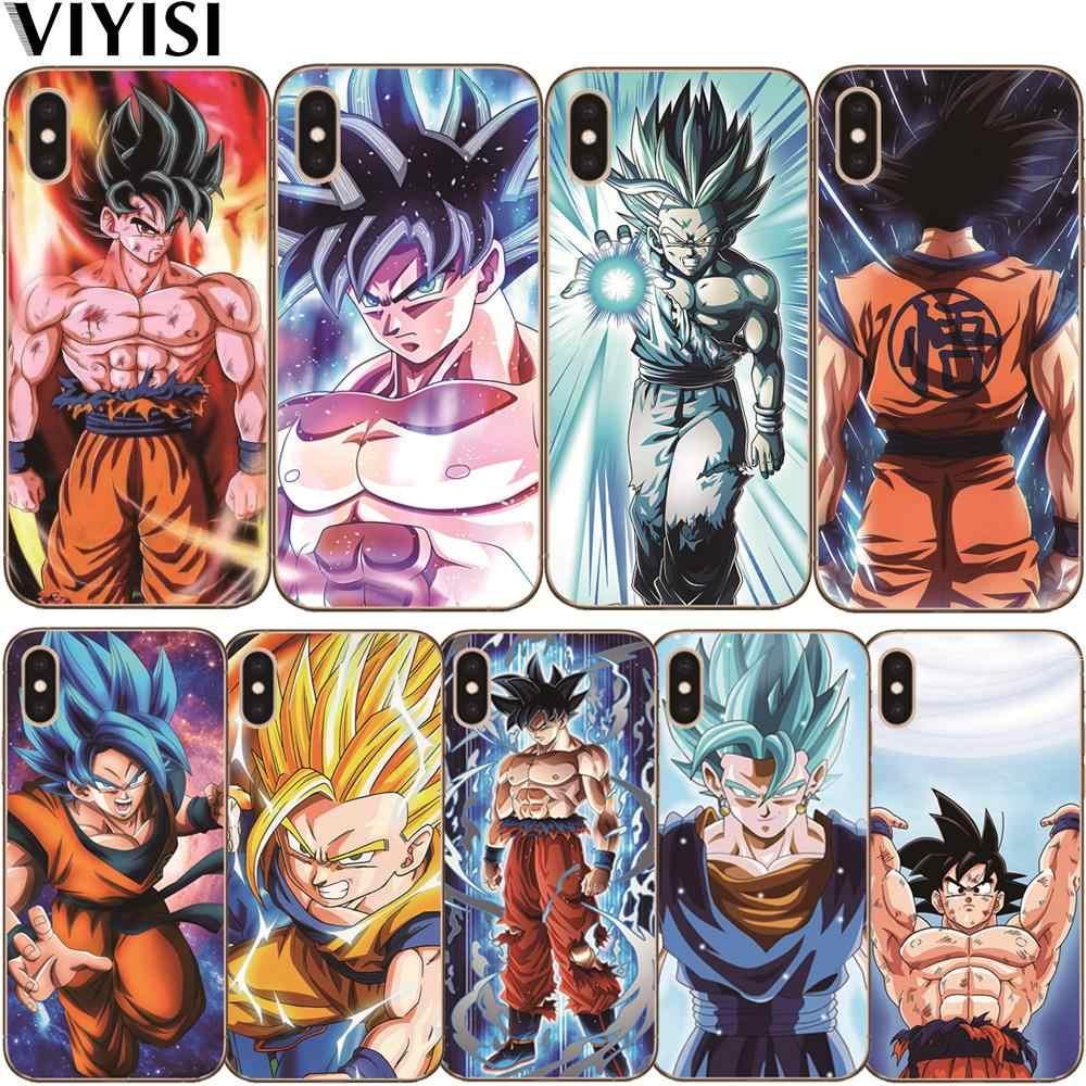 Cartoon Luxury Dragon Ball Z Super DBZ Goku Phone Case For iPhone X XS MAX XR 8 7 6 6S Plus 5 5s Se Etui Shell Coque Funda Capa