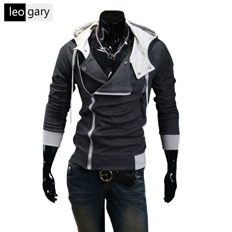 LEOGARY Sweatshirts Male Hoodies Slim Fit Men Hooded Jacket
