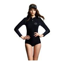 2017 New Women Sexy Front Zipper Swimsuit One Piece Sport Bathing Suit Long Sleeve Swimwear Surf Rashguard Beach Wear