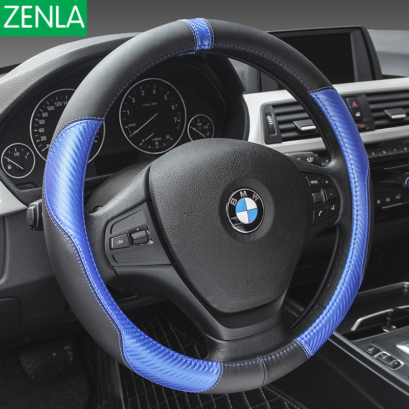 High Quality Black Leather Steering Wheel Cover for BMW Ford KIA Honda VW Volkswagen Buick Chevrolet Nissan Hyundai