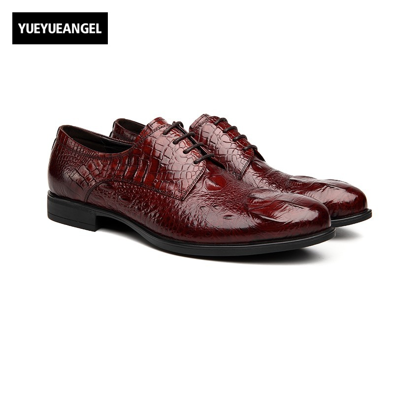 2017 New Vintage Genuine Leather Formal Wedding Shoes Mens Lace Up Pointed Toe Fashion Brand Lacets Chaussures Heren Schoenen genuine leather mens dress shoes male lace up british wing tip pointed toe retro footwear formal shoe heren schoenen top quality