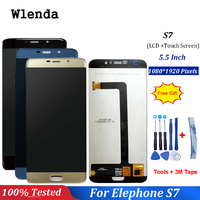 100% Tested For Elephone S7 LCD Display+ Touch Screen Assembly Screen Digitizer Replacement For Elephone S7 Mobile Accessories