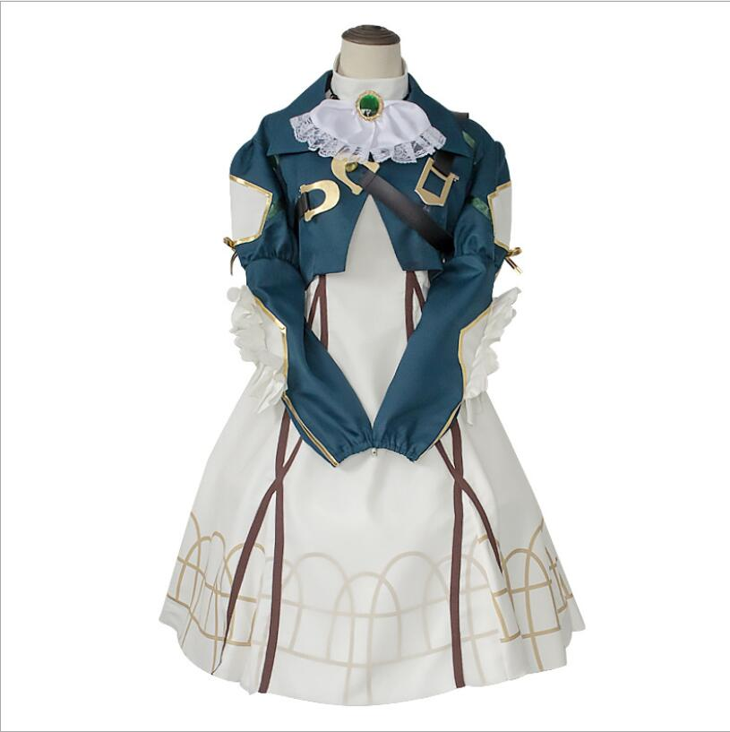 Hot Anime Violet Evergarden Cosplay Vintage Court Dress Casual Temperament Dress Cos Halloween Party Dress Party