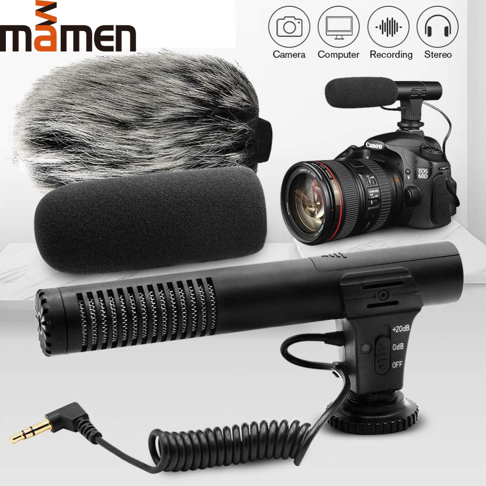 MIC-02/MIC-03/MIC-05/MIC-06/MIC-07 3.5mm Mobile Phone/Camera Microphone Video Recording Super-cardioid Pointing Stereo Mic 2019
