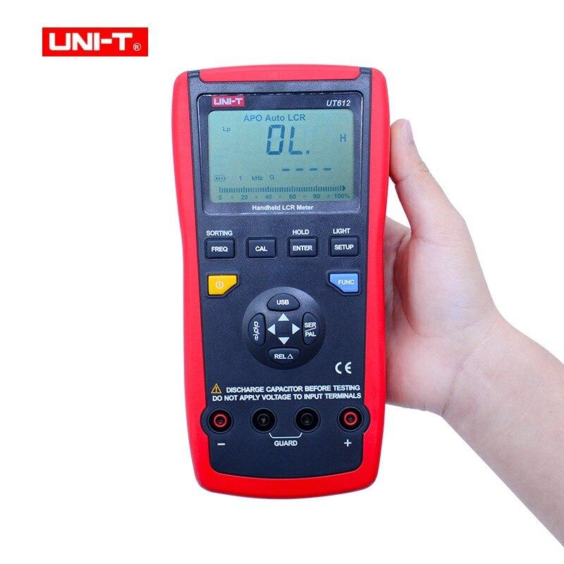 UNI-T UT612 USB Interface 20000 compte Inductance fréquence Test écart rapport mesure LCR mètres avec boîte