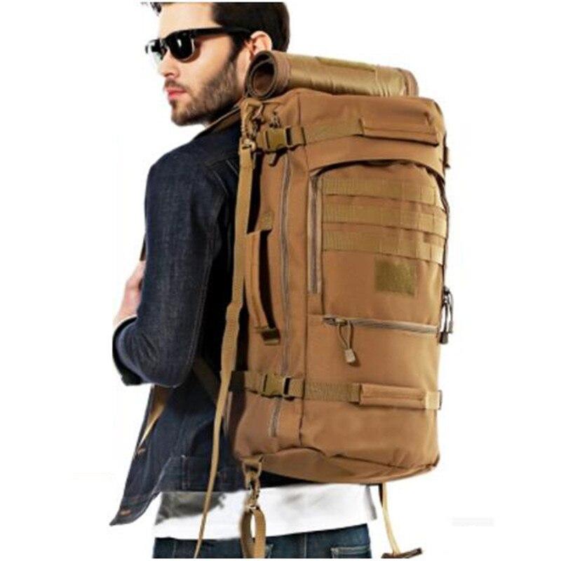 Hommes et femmes voyage sac à dos sac à dos voyage grande capacité sac 60 l sac militaire passionnés résistant à l'usure nylon étanche