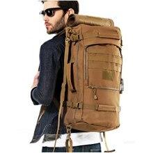 Hombres y mujeres mochila de viaje mochila bolsa de viaje mochila de gran capacidad de 60 l entusiastas militares antidesgaste de nylon resistente al agua