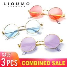 купить NEW Fashion Brand Design Vintage  Round Sunglasses Women Men Ocean Candy Color Tinted lens Unisex Eyeglasses Retro Sun glasses по цене 643.92 рублей