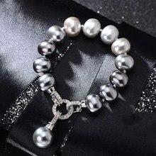 Juya DIY Luxus Perlen Schmuck Komponenten Handgemachte Stecker Verschluss Verschluss Schließe Zubehör Für Frauen Perlen Schmuck Machen
