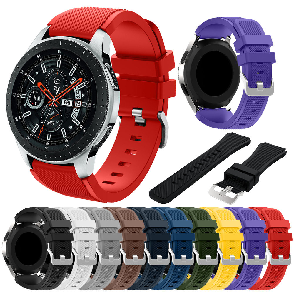 Sport silicone strap For Samsung Galaxy Watch 46mm Bracelet Soft Wrist strap Replacement watchband for Huami Amazfit Stratos 2Sport silicone strap For Samsung Galaxy Watch 46mm Bracelet Soft Wrist strap Replacement watchband for Huami Amazfit Stratos 2