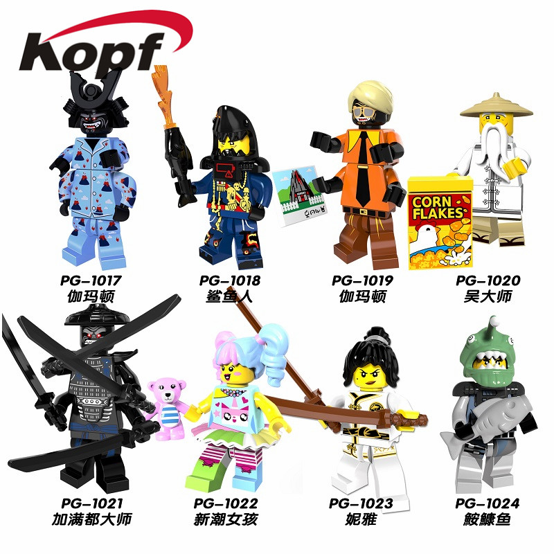 PG8070 Single Sale Super Heroes Building Blocks Sharkman Gamma Frendy Girl Niya Master Wu Bricks Model For Children Gift Toys super heroes single sale the villain of yellow lantern skeletor heman he man he man building blocks toys for children gift kf921