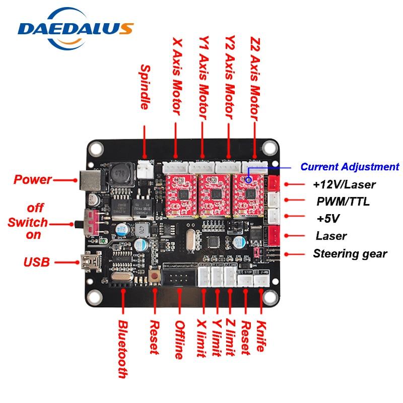 3 axe CNC Contrôleur GRBL Contrôle Double Y Axe Bord Du Pilote USB Contrôleur Laser Conseil Pour 3018 1610 2418 CNC graveur Sculpture