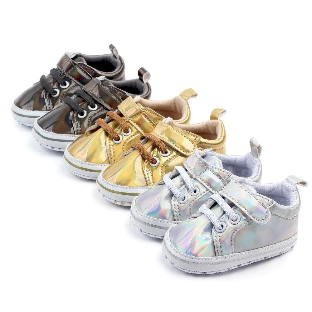 Boy Girl Shoes Sole Soft Anti-skid Walking Magic Sticking  HOT SALE