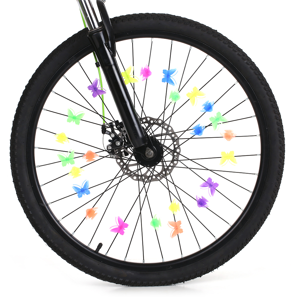 Cycling-Wheel-Spoke Decoration Bike Bicycle Colorful Fun Assorted Attachments Kids