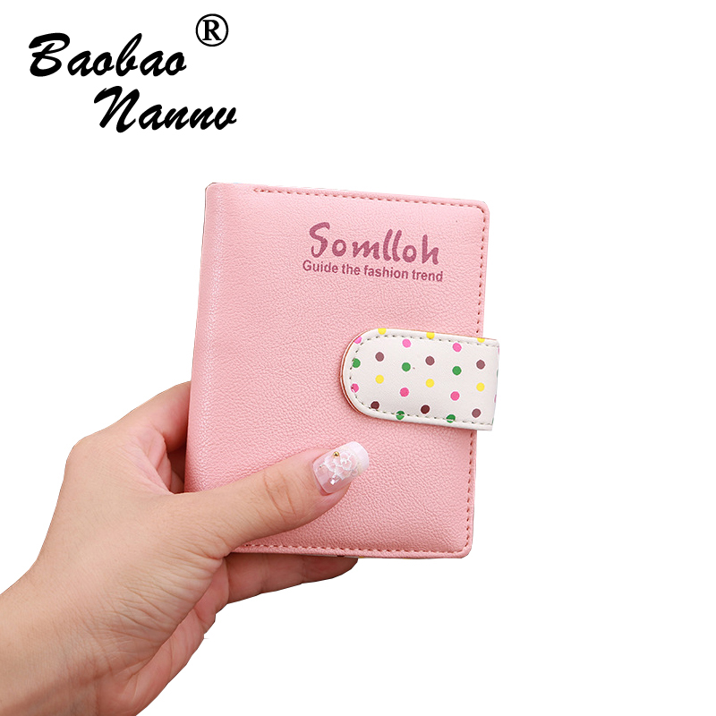 Wallet Multi Function Change Purses Large Capacity Zipper Women Short Style Wallets Cute Card Hold Soft Money Bag Dots Printed