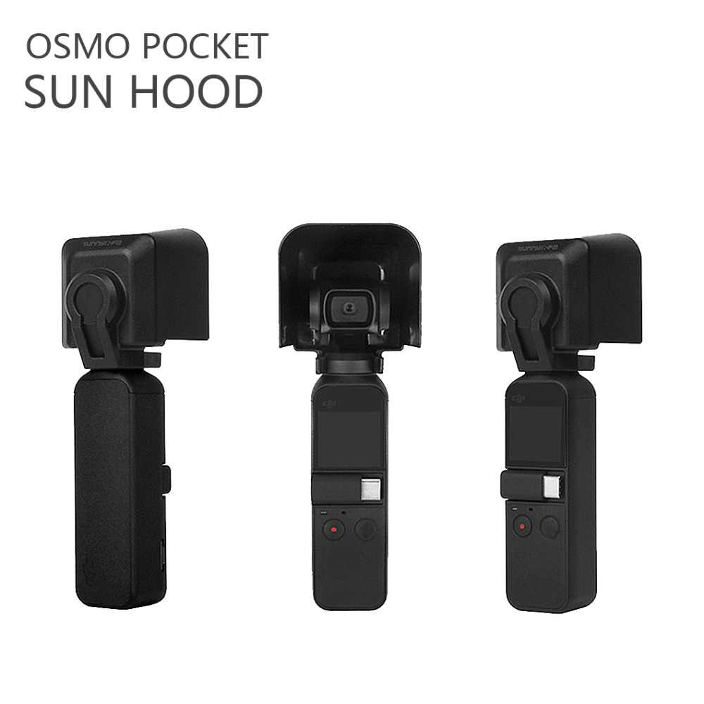 OSMO POCKET Sunshade Lens Hood Camera Protective Cover Lens Sunhood for DJI OSMO Pocket Handheld Gimbal Stabilizer Accessories