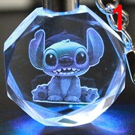 Брелок светодиодный кристалл Стич в ассортименте 2