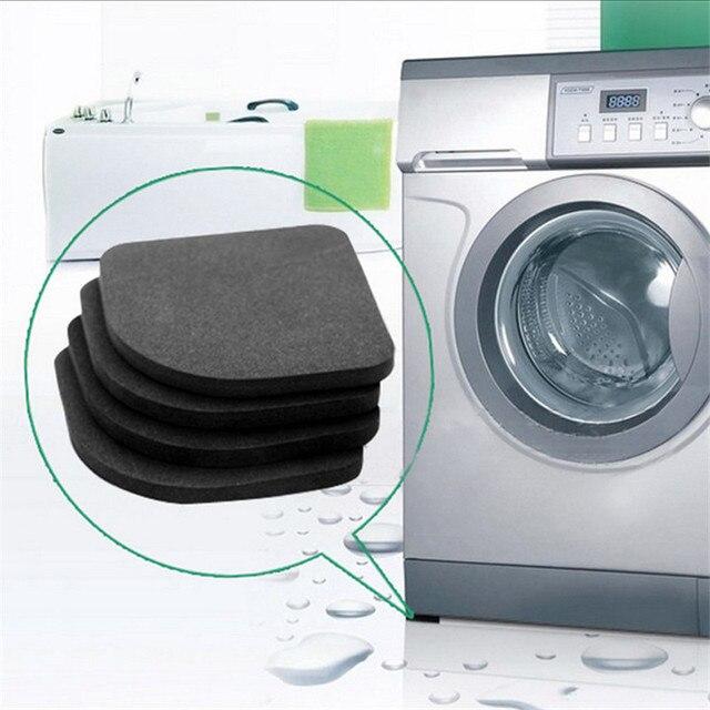 Çamaşır Makinesi Titreşim Önleyici Ped Mat Kaymaz Şok Pedleri Paspaslar Buzdolabı 4 adet/takım Mutfak Banyo Aksesuarları Banyo mat