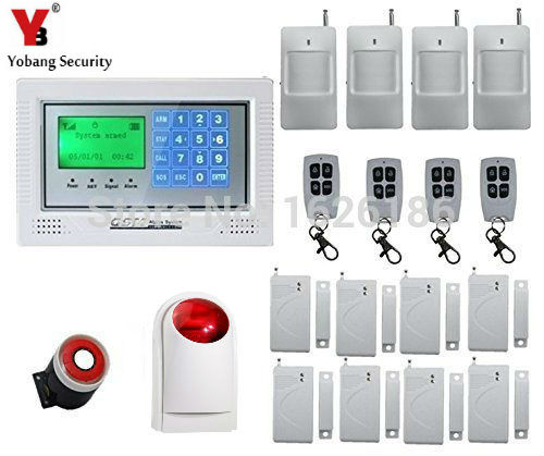 YobangSecurity Touch keypad Wireless Wired GSM Alarm System Security System Burglar Intruder alarm PIR Motion Door Window Sensor yobangsecurity touch keypad wifi gsm gprs home security voice burglar alarm ip camera smoke detector door pir motion sensor