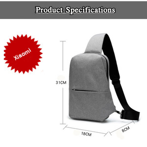 Image 3 - Original Xiaomi mijia Backpack Sling Bag Leisure Chest Pack Small Size Shoulder Type Unisex Rucksack Crossbody Bag 4L Polyester