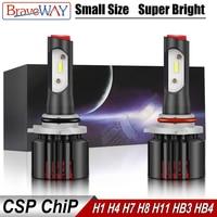 bulb 12v BraveWay 2019 NEW Item 12V CSP Chip Mini H4 LED Headlight H11 H7 LED Lamp for Car Light Bulb 9005 9006 HB3 HB4 H8 H7 LED Bulb H4 (1)
